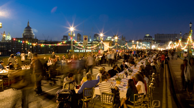 A riverside feast in the The Mayor's Thames Festival