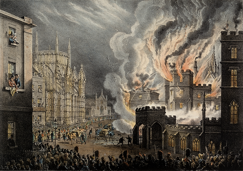 The Destruction of the Houses of Lords and Commons by Fire on the 16th Oct 1834. By William Heath