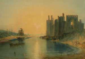 The castle painted in watercolour by J M W Turner in 1799