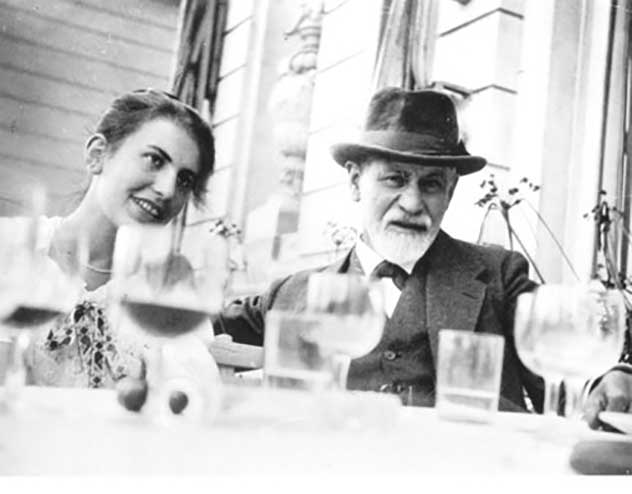 Freud and his daughter Credit: Freud Museum