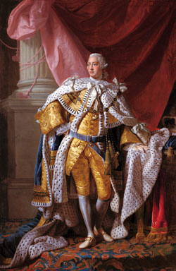State portrait of George III by Allan Ramsay