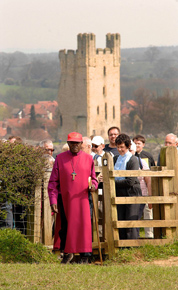 The Archbishop of York on a pilgrimage in North Yorkshire