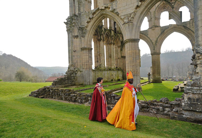The Archbishop of York visits Rievaulx Abbey