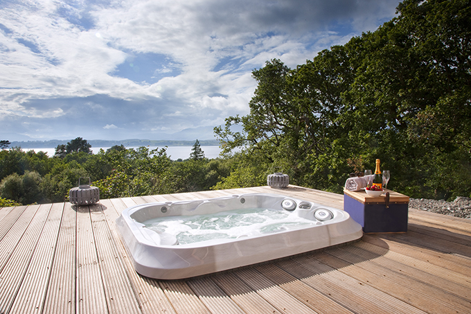 Hot tub view from the Hill Reserves on the Isle of Eriska | British hotels | New places to stay Britain 2017