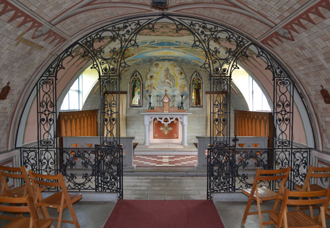 Interior of The Italian Chapel, Orkney, Scotland