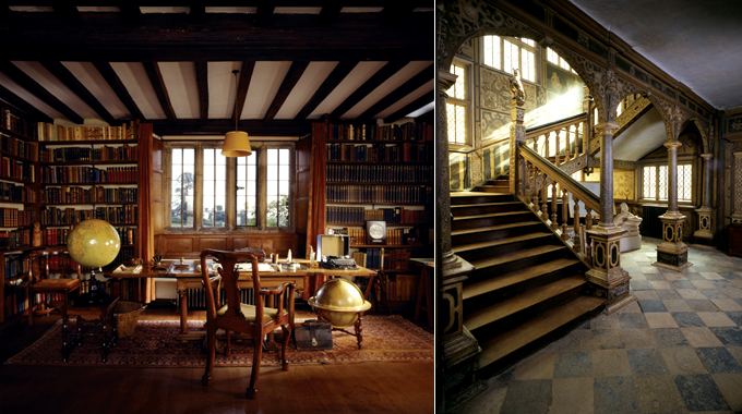 Study at Bateman's, Knole's Great Jacobean Staircase