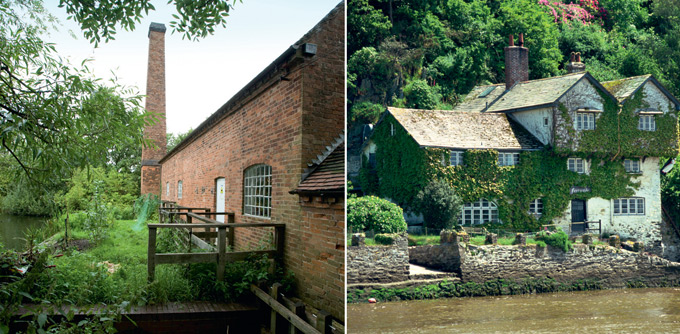 Sarehole Mill in Birmingham; Bodinnick in Cornwall, home to Daphne du Maurier