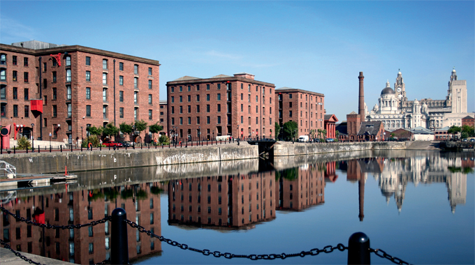 Albert Dock, the home of Tate Liverpool