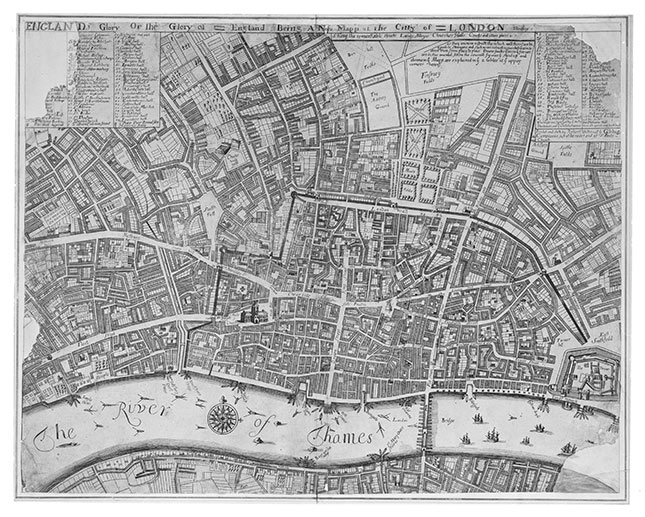Great Fire Of London Map.Exhibition Marks 350th Anniversary Of Great Fire Britain Magazine
