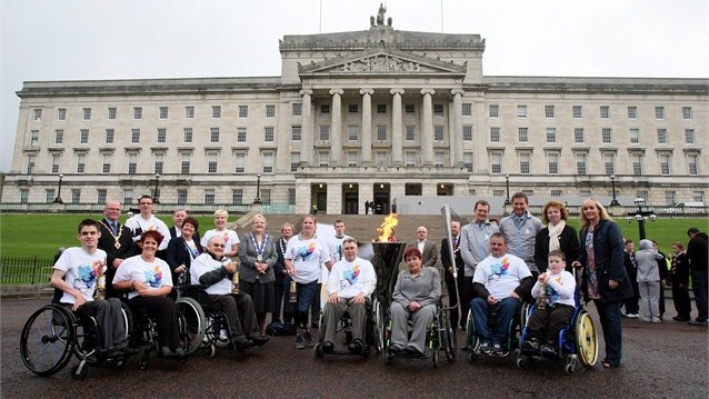 Paralympics 2012 Flame Belfast