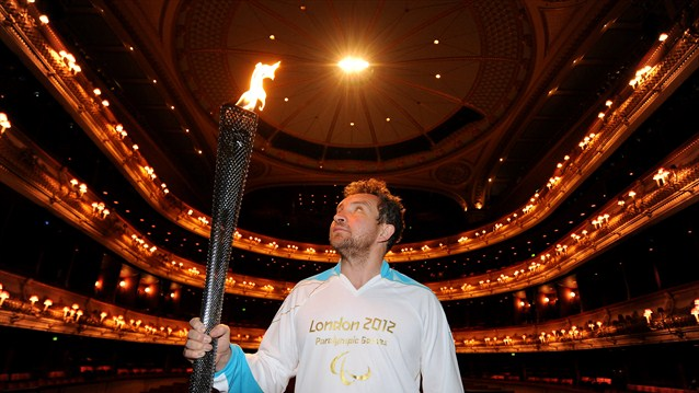 Paralympics 2012 Flame London Royal Opera House