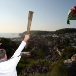 Philip Richards. Olympic torch -Oystermouth Castle