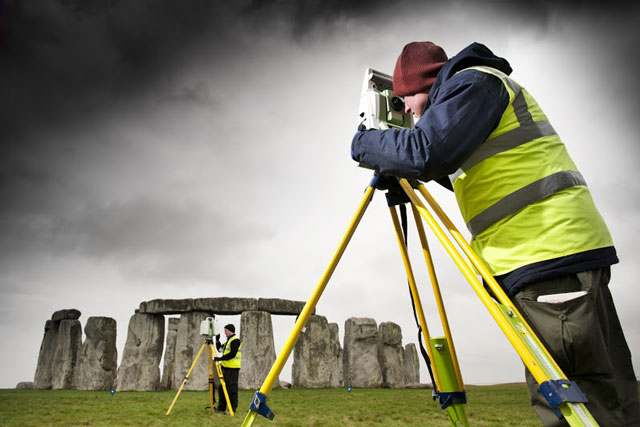 laser scan of Stonehenge in April 2011