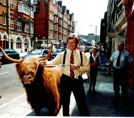 Ranald Macdonald and highland cow