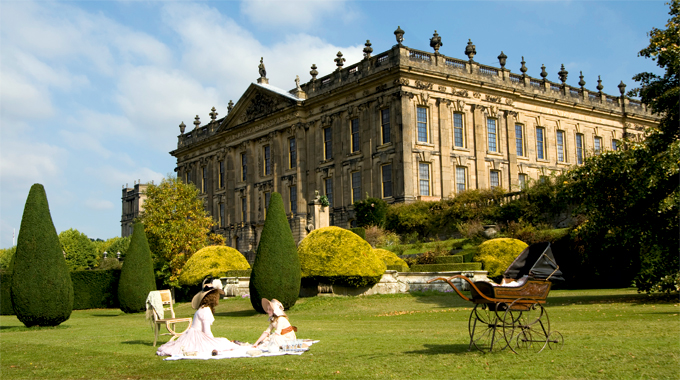 Keira Knightley in The Duchess at Chatsworth House