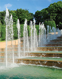 The Grand Cascade is the centrepiece of Alnwick Garden