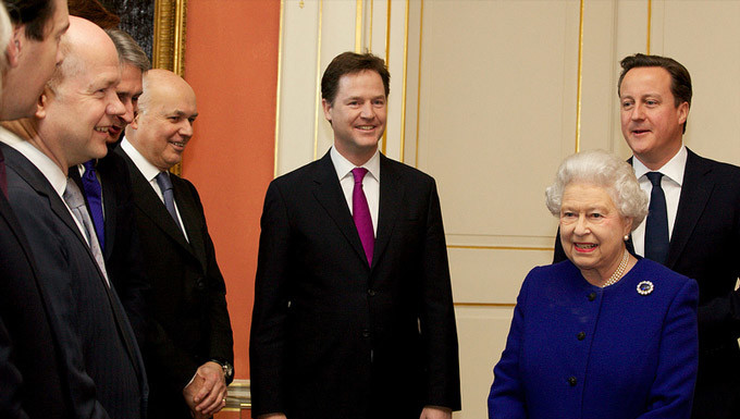 Her Majesty the Queen meets the Prime Minister, Deputy Prime Minister and members of Cabinet