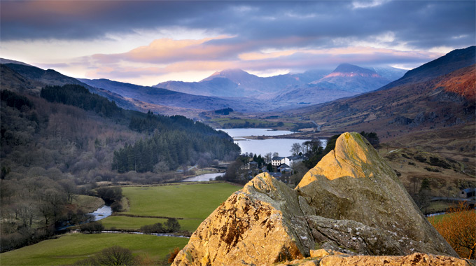 Snowdon from the Pinnacles and Capel Curig, Snowdonia