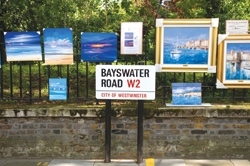Bayswater Road art on display