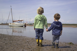 Children on the beach at Brancaster