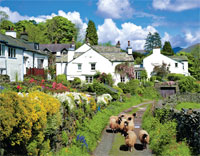 The picturesque village of Troutbeck