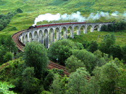 Glenfinnan Viaduct, of Harry Potter fame