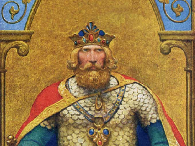 The legend of King Arthur and Camelot