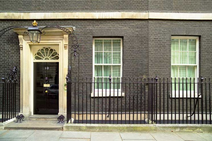 No 10 Downing Street, the official London residence of the British Prime Minister (First Lord of the Treasury), in Westminster, London will be open to visitors as part of Open House London 2016. Credit: VisitBritain/Pawel Libera