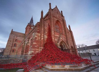 Magnus Cathedral, orkney, poppies