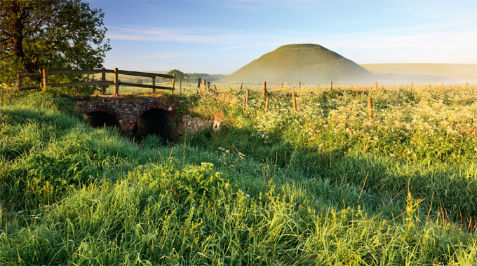Silbury Hill, the tallest prehistoric chalk mound in Europe